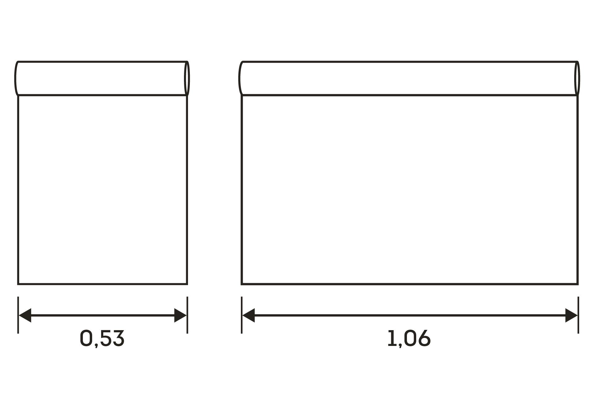 ширина рулона
